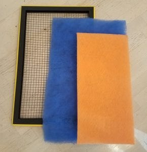 Poly Pads and filter frame